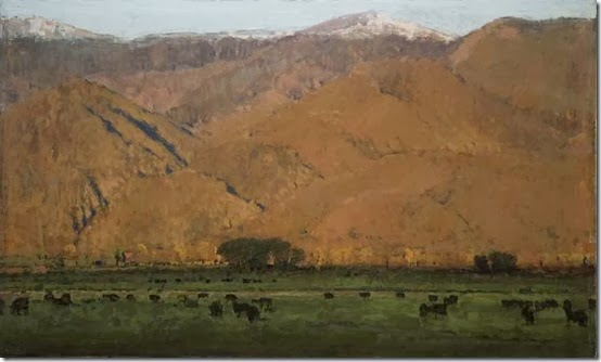 Evening_Hills_w_Black_Cows_14x26