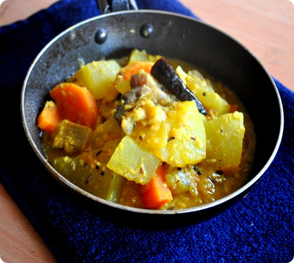how to prepare ven pongal sambar