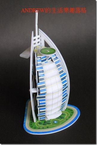 帆船飯店 地標模型