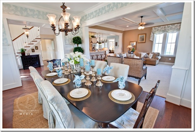 Dining Room -Decorating a Dream Home - www.sandandsisal.com