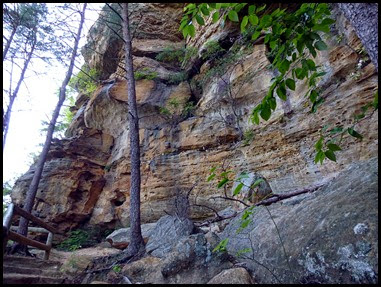 18f - Balance Rock- along the cliff wall