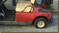 14 golf cart flat