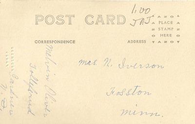 Melvin Oliver Tollefsrud Postcard DL Antiques back