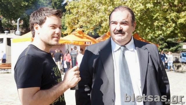 Με τον Δήμαρχο Μετσόβου, Νικόλαο Τσομπίκο.