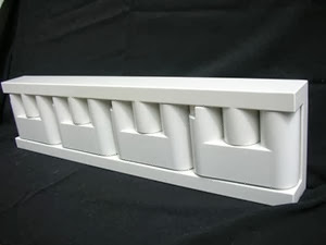 White Velca MiniVip coat rack closed