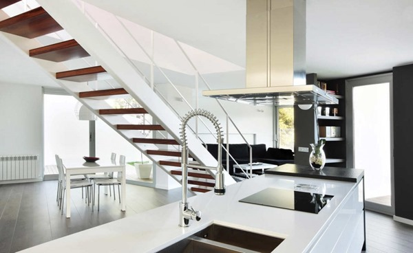 cocina-integrada-minimalista-españa