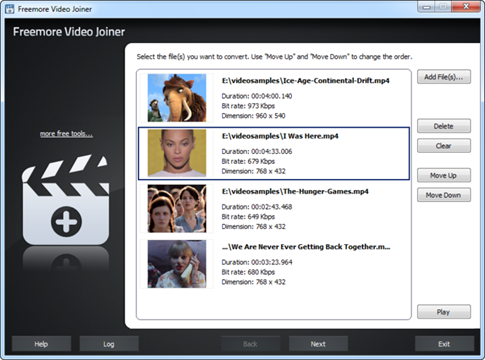 Freemore Video Joiner para Windows
