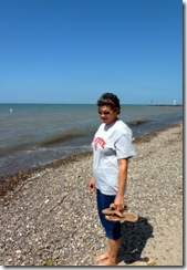 Pam at Lake Erie
