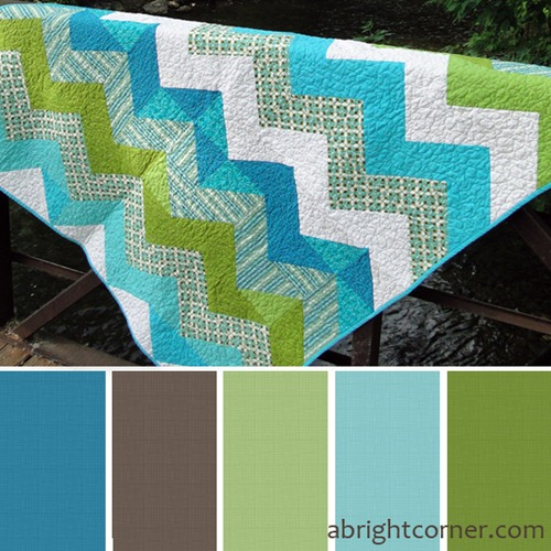Zigzag quilt palette