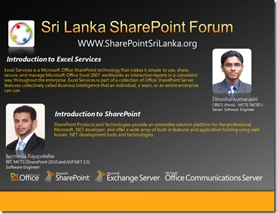 03 - SriLankaSharePointForum - 9th March 2011