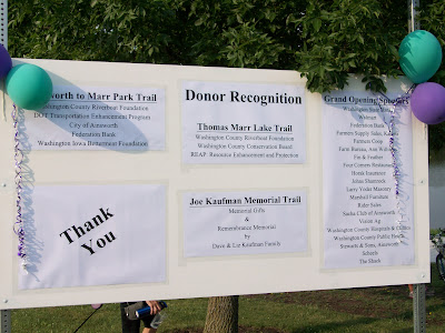 Donors for the Ainsworth to Marr Park Trail