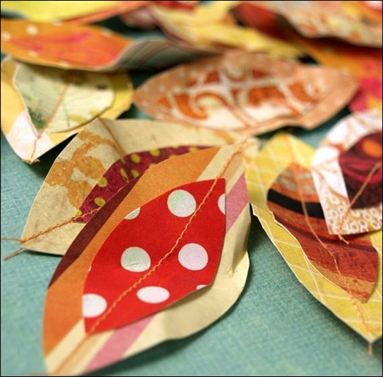 Julia's Bookbag: Autumn Leaves and Paper Trees