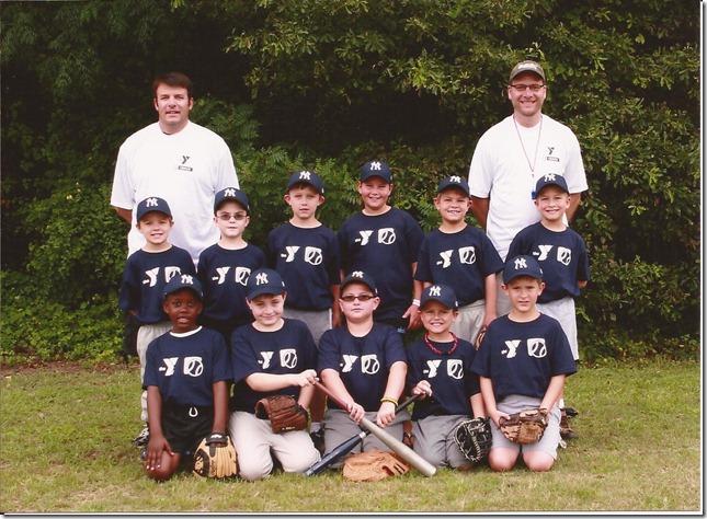 Kyle summer baseball team 2012