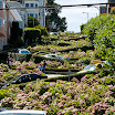 Close view of Lombard Street