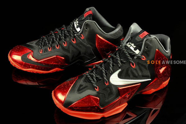 Yet Another Look at LeBron 11 Black  Metallic Red  Silver Grey