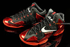 nike lebron 11 gr black red 1 01 New Photos // Nike LeBron XI Miami Heat (616175 001)