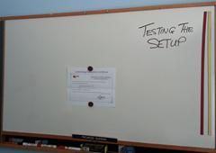 whiteboard on webcam