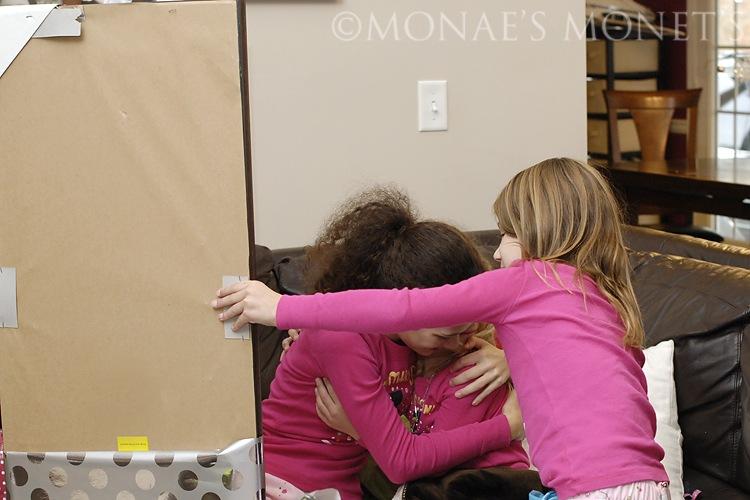 girls hugging blog