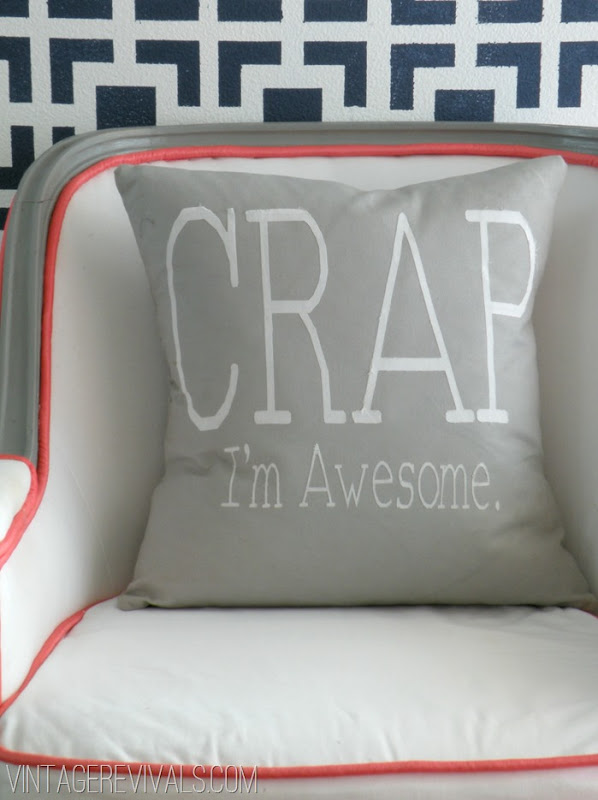 Crap I'm Awesome Pillow