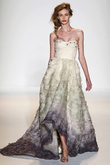 lela rose ombre wedding gown dress