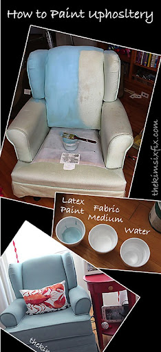 How To Paint Upholstery (Latex Paint And Fabric Medium)   The Kim Six Fix