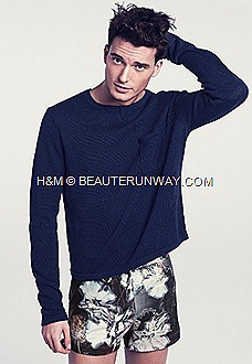 H&M Spring Summer 2012 mens Collection knitwear printed shorts
