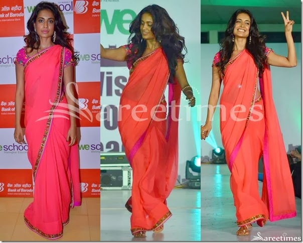 Sarah_Jane_Dias_Pink_Plain_Georgette_Saree