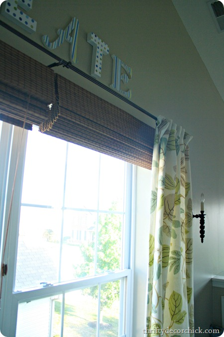 hanging roman shades above window