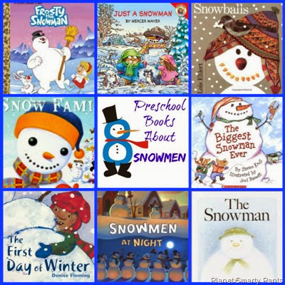 Preschool Books and Activities for Snowmen Theme