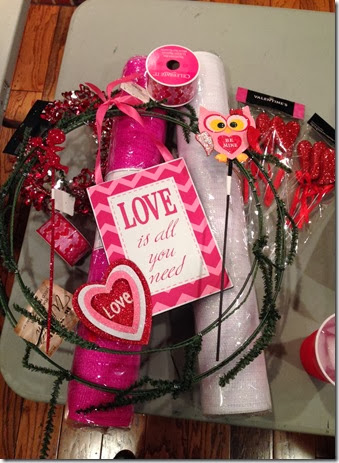 Deco Mesh Valentines Wreath