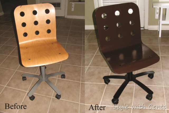 $750 total kitchen remodel sherwin williams turkish coffee bead board cabinets ikea swivel chair kitchen before after6