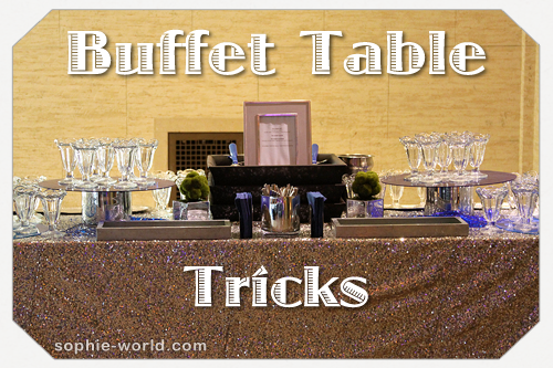 Buffet table header