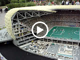 The Allianz Arena - the larget lego creation in the world - 5 meters across, 1 meter high, 1.5 tons
