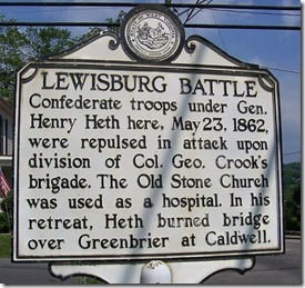 Lewisburg Battle marker, Greenbrier County, WV (Click any photo to enlarge)