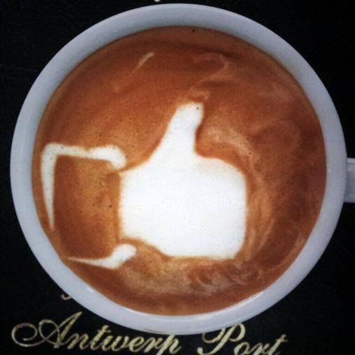 Arte em café 5