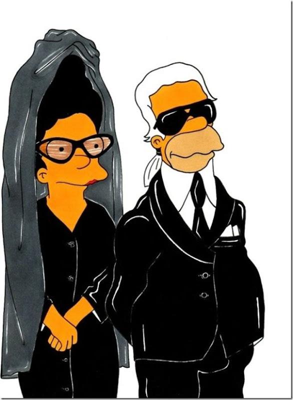 Diane Perne & Karl Lagerfeld