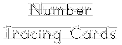 graphic about Free Printable Number Cards identified as Range Tracing Playing cards ~ No cost Preschool Printables