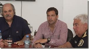 Durante su visita Granados visitó la sala de videovigilancia municipal