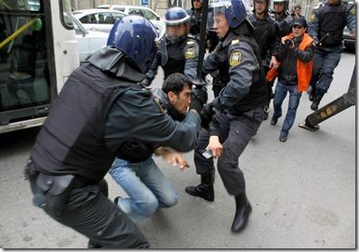Azerbaijan Baku protest Eurovision