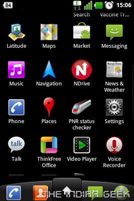 LG Optimus One P500 - Android 2.3 Gingerbread - App Drawer