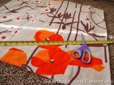 Step 2- measure and cut the fabric to recover