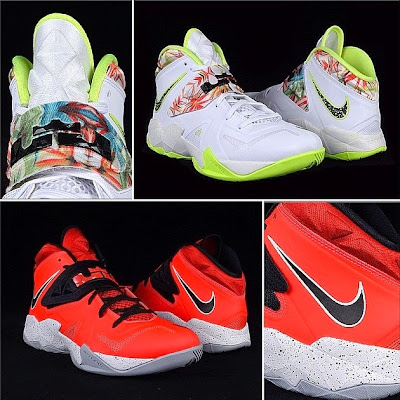 nike zoom soldier 7 gr white volt 0 00 Nike Soldier 7   Kings Pride & Miami Heat   Available Now