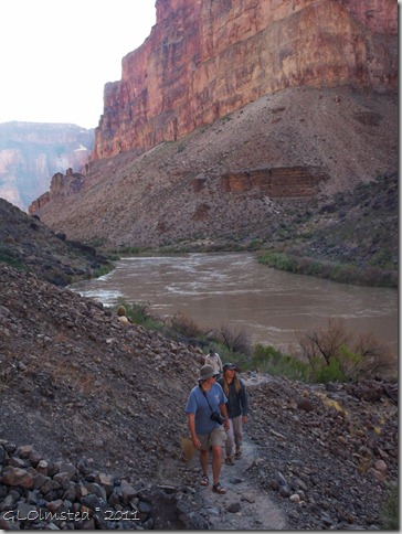 05 Walking down river to scout out Lava Falls Colorado River trip GRCA NP AZ (768x1024)