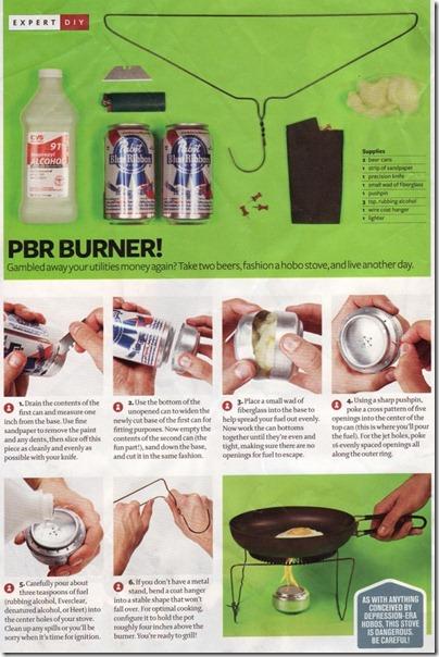 cocina con una lata