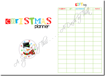 Christmas Planner Cover and page 1