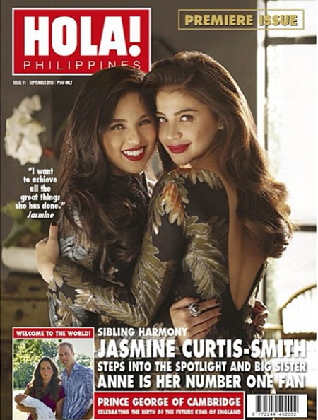 Jasmine Curtis-Smith, Anne Curtis on Hola! Ph premiere issue cover