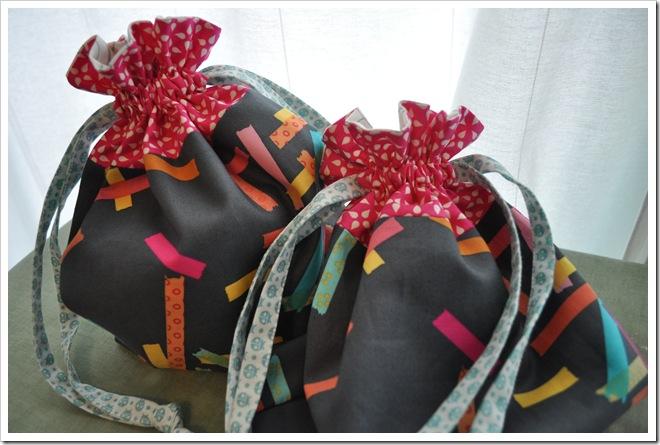 2 Washi drawstring bags (2)