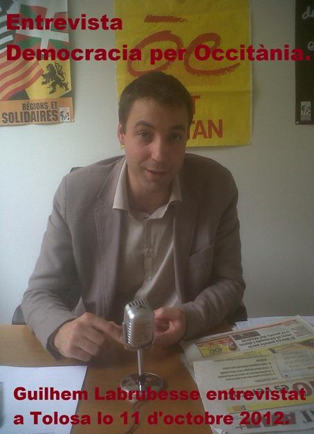 Guilhem Labrutesse Octobre 2012 al Conselh Regional de Miègdia-Pirinèus comentada