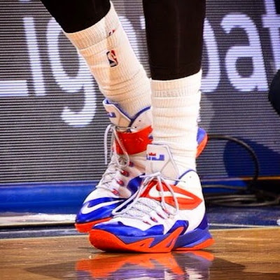wearing brons nba soldier8 amare knicks 01 Wearing Brons: Amare Stoudemires Soldier 8 Knicks PEs (x2)