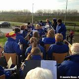 Pekelder fanfare bij intocht Sinterklaas in Meeden - Foto's Jeannette Ritzema